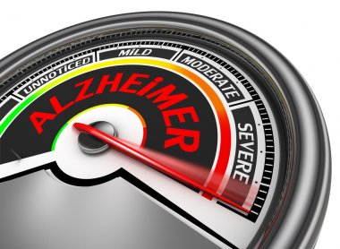 alzheimer disease conceptual meter indicate severe