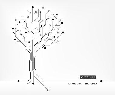 tree abstract shape circuit board