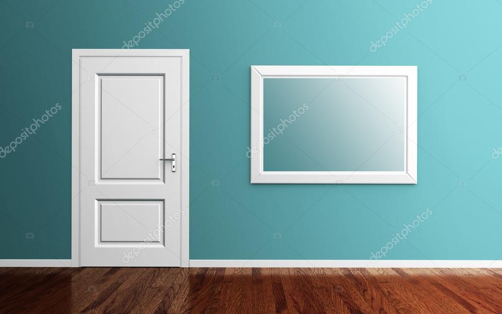Interior con marco de puerta y la imagen 3d render — Fotos de Stock ...