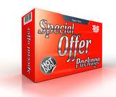 Akční nabídka balíčku koncept červené reklama