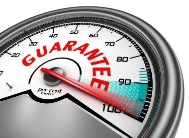 guarantee conceptual meter indicate hundred per cent