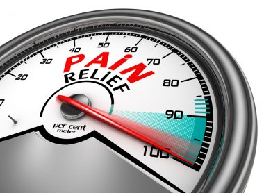 pain relief meter indicate hundred per cent