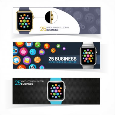 Smart watch banners.