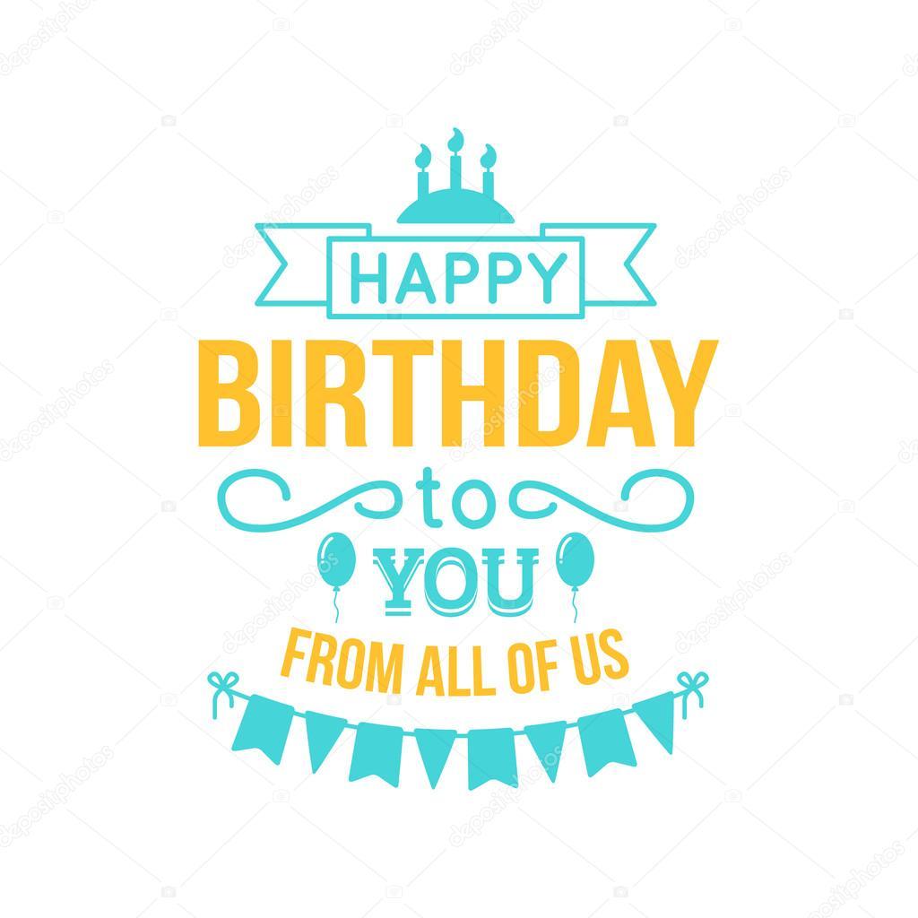 Alles Gute zum Geburtstag-Schriftzug — Stockvektor © Chuhail #82868554