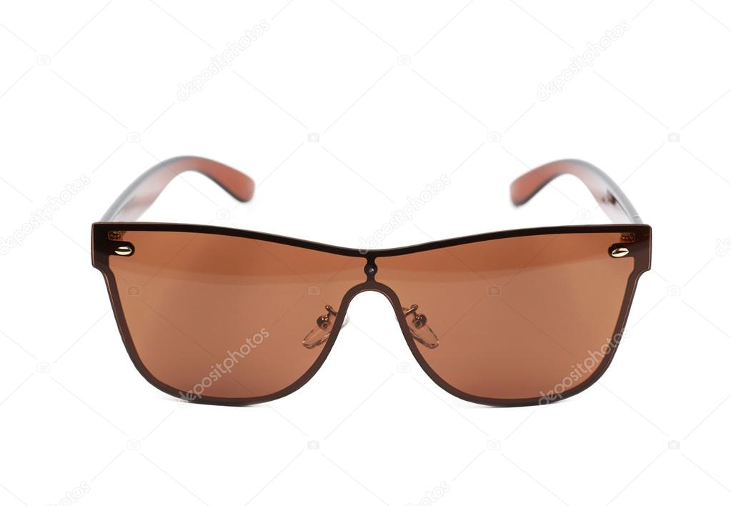f3658c6a498 Pair of brown shade sunglasses isolated over the white background — Photo  by ...