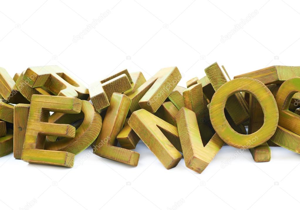 Pile De Lettres En Bois Peintes Photographie Nbvf89 C 119118288