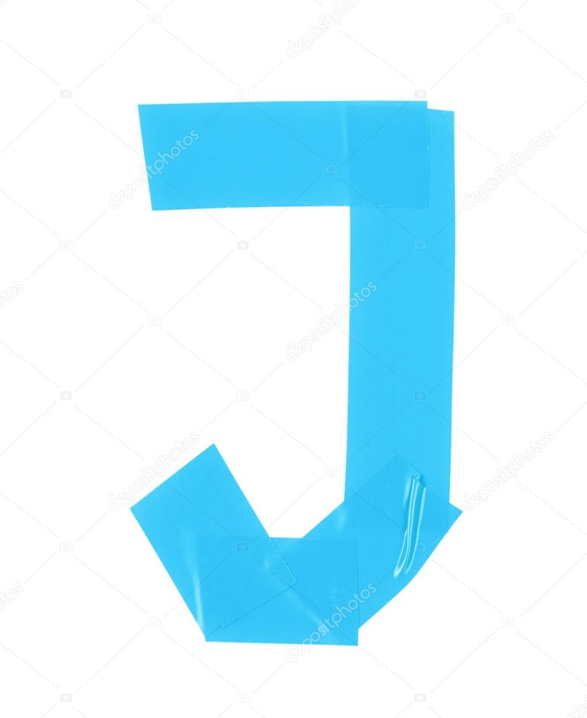 Letter J Symbol Made Of Insulating Tape Stock Photo C Nbvf89