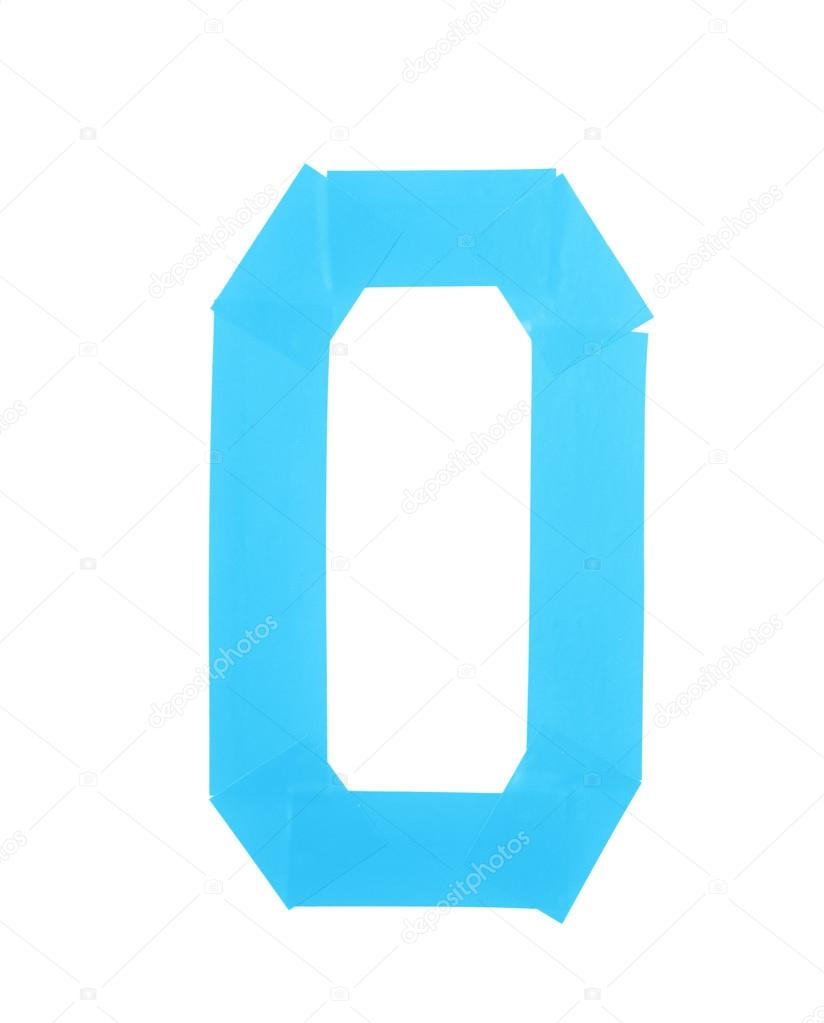 Number Zero Symbol Made Of Insulating Tape Stock Photo Nbvf89
