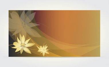 Abstract flower card with vanilla flower