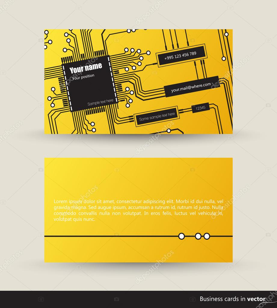 Logic Circuit Visit Card Stock Vector Tikir1 94464154 Diagram Of A It Cards Made Circuits Front And Back Side Eps 10 By