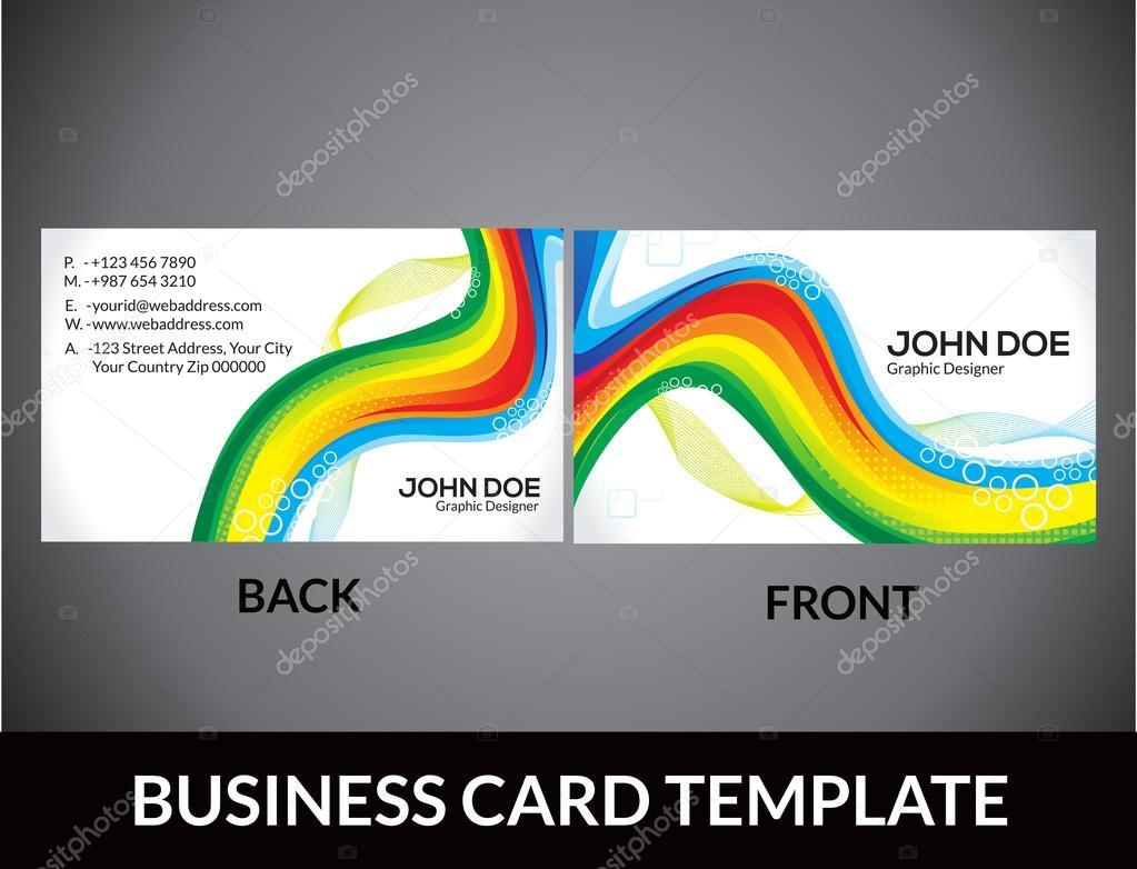 Modelo de carto abstrato arco ris vetores de stock abstract rainbow business card template vector illustration vetor de rioillustrator reheart Images
