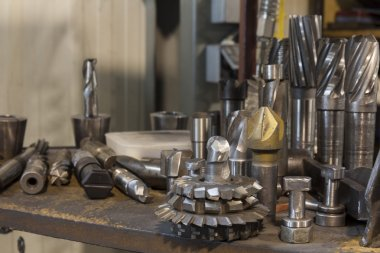 metalworking tools on table