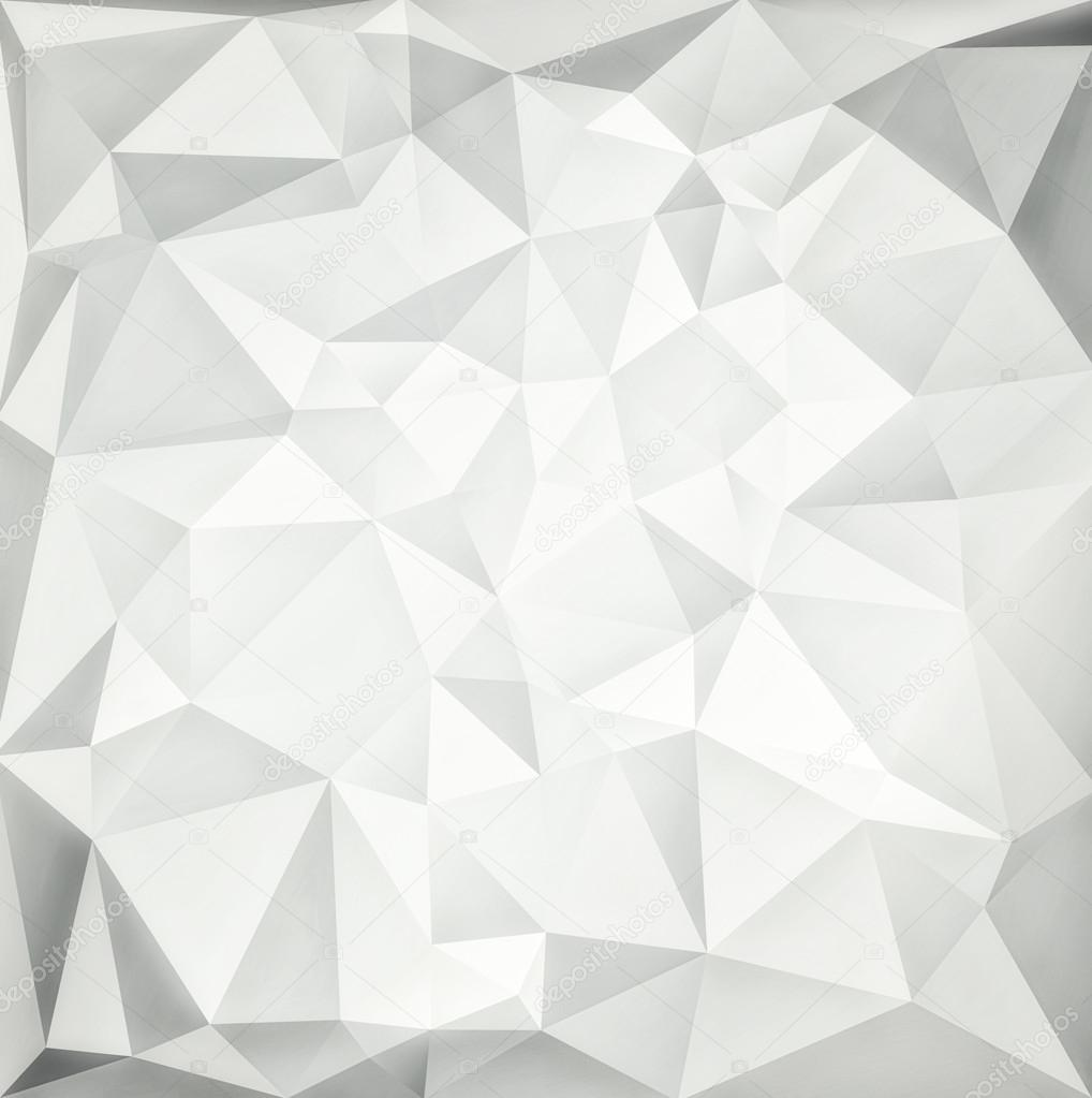 Abstract White Modern Background With Polygons