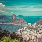 Panorama pohled z Rio de Janeiro, Brazílie