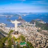 Fotografie Kristus a Botafogo Bay