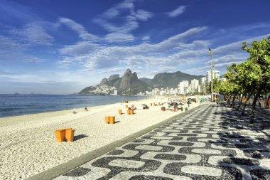 Morning on Ipanema Beach in Rio de Janeiro