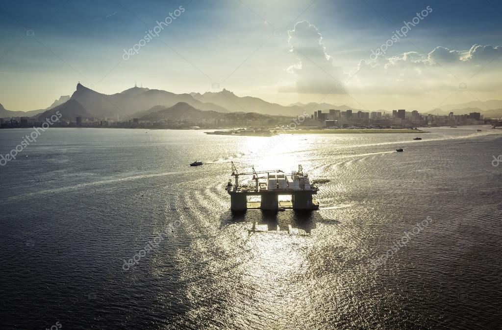 Oil drilling rig, Rio De Janeiro, Brazil