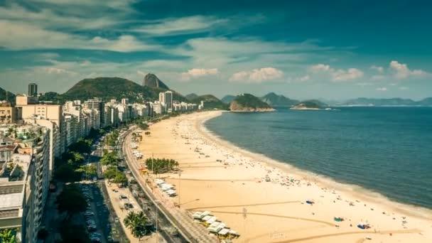 pláž Copacabana v rio de Janeiru