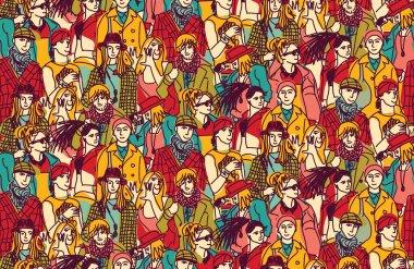 fashion people Seamless pattern