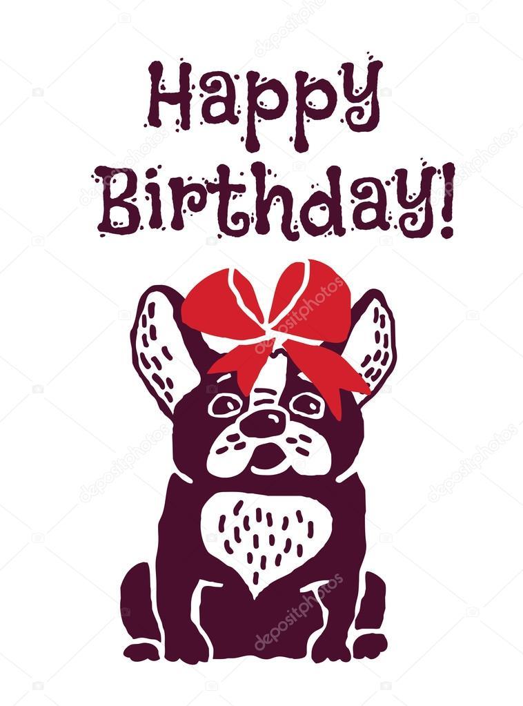 Auguri Di Buon Compleanno Con Cane Vettoriali Stock Dashk 80487280