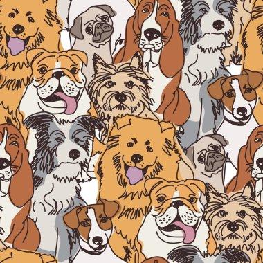 Crowd dogs in wallpaper