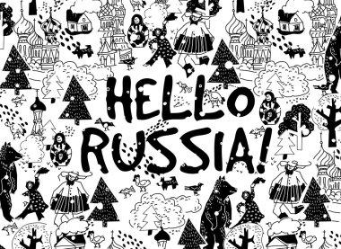 Hello Russia placard