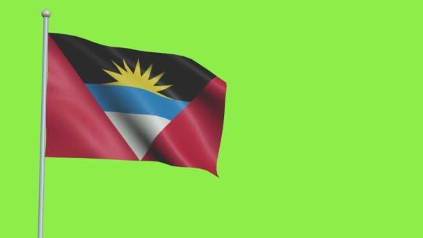 Antigua and Barbuda Flag Slow Motion