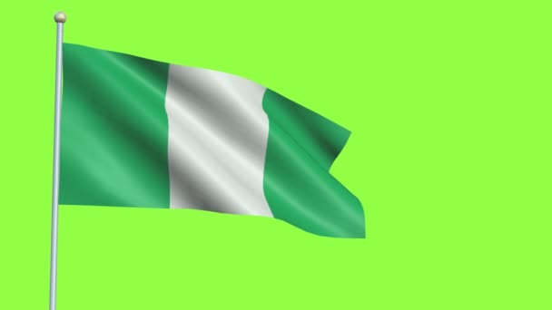 Nigeria Flag Slow Motion