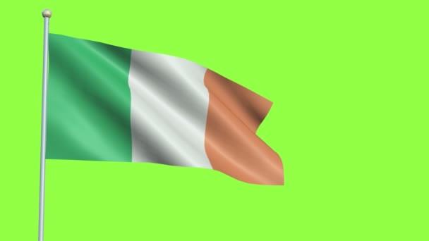 Ireland Flag Slow Motion