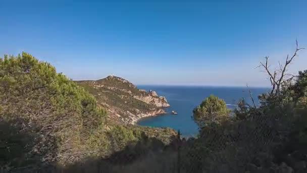 Středozemní pobřeží krajina během cesty