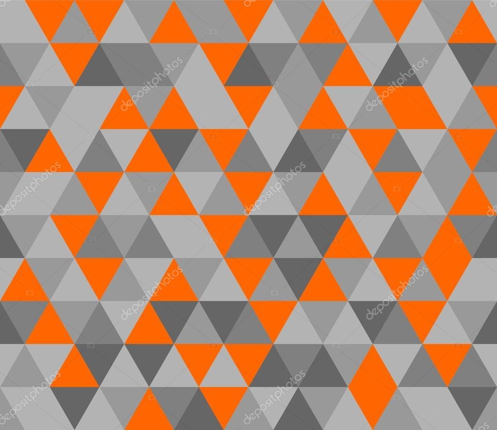 Fond De Vecteur De Tuile Avec Mosaique Triangle Orange Noir Et Gris