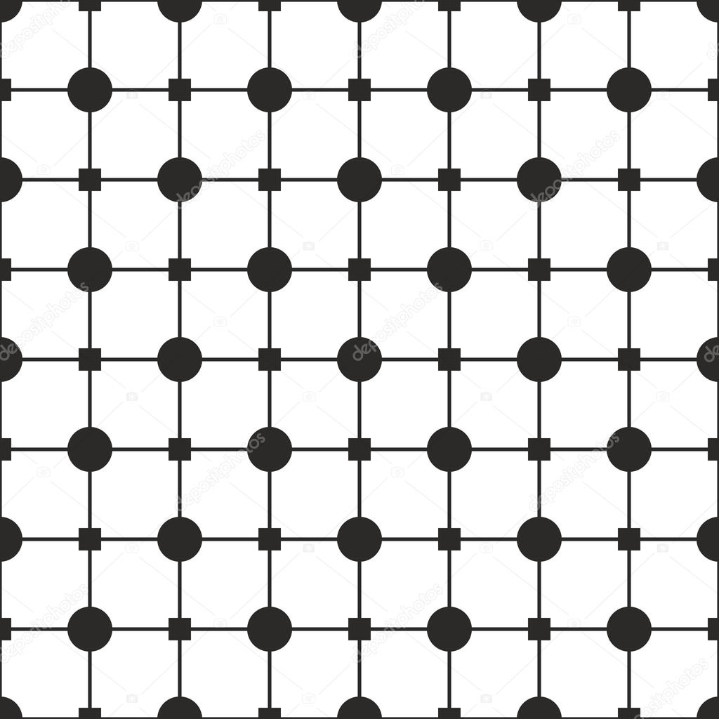 Tile Black And White Vector Pattern Or Simple Geometric Background