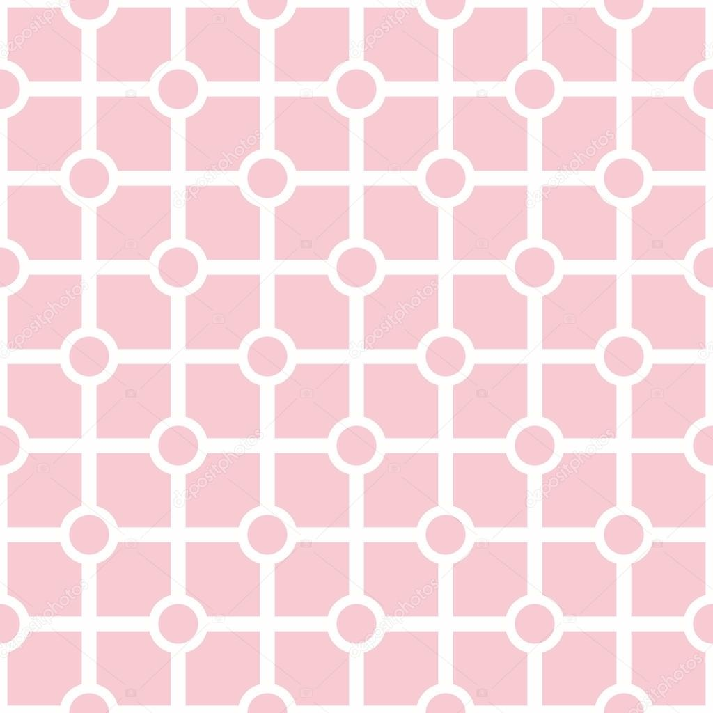 Tile vector pastel pink and white pattern or geometric background wallpaper — Stock Vector