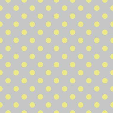 Tile vector pattern with green polka dots on grey blue background