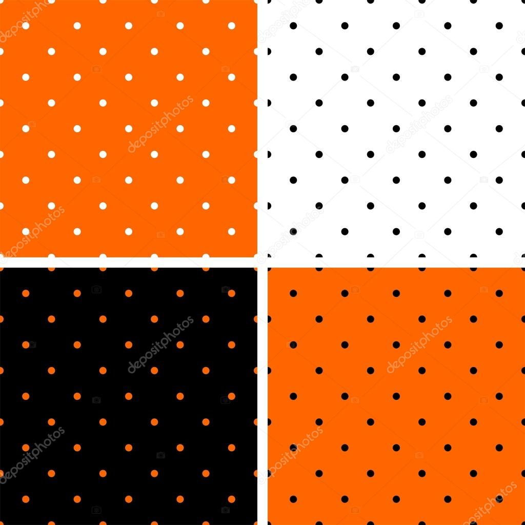 Pois orange, noir et blanc fond ensemble. — Image ...