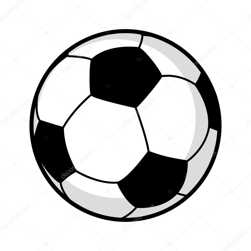 Grafik Illustration Von Einem Fussball Stockvektor