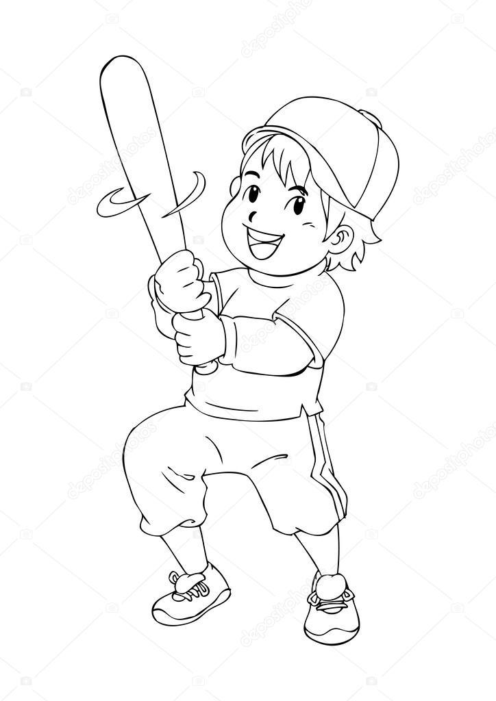jugador de béisbol — Archivo Imágenes Vectoriales © rudall30 #52313271
