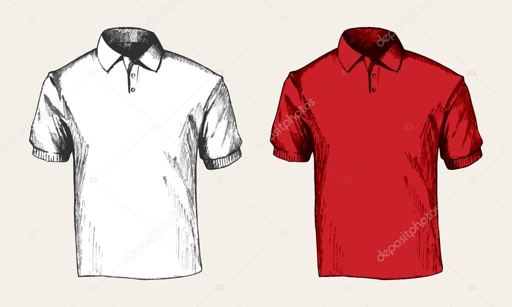 Sketch illustration of a white and red polo shirt — Vector by rudall30.  Find Similar Images ba5f9003a729c