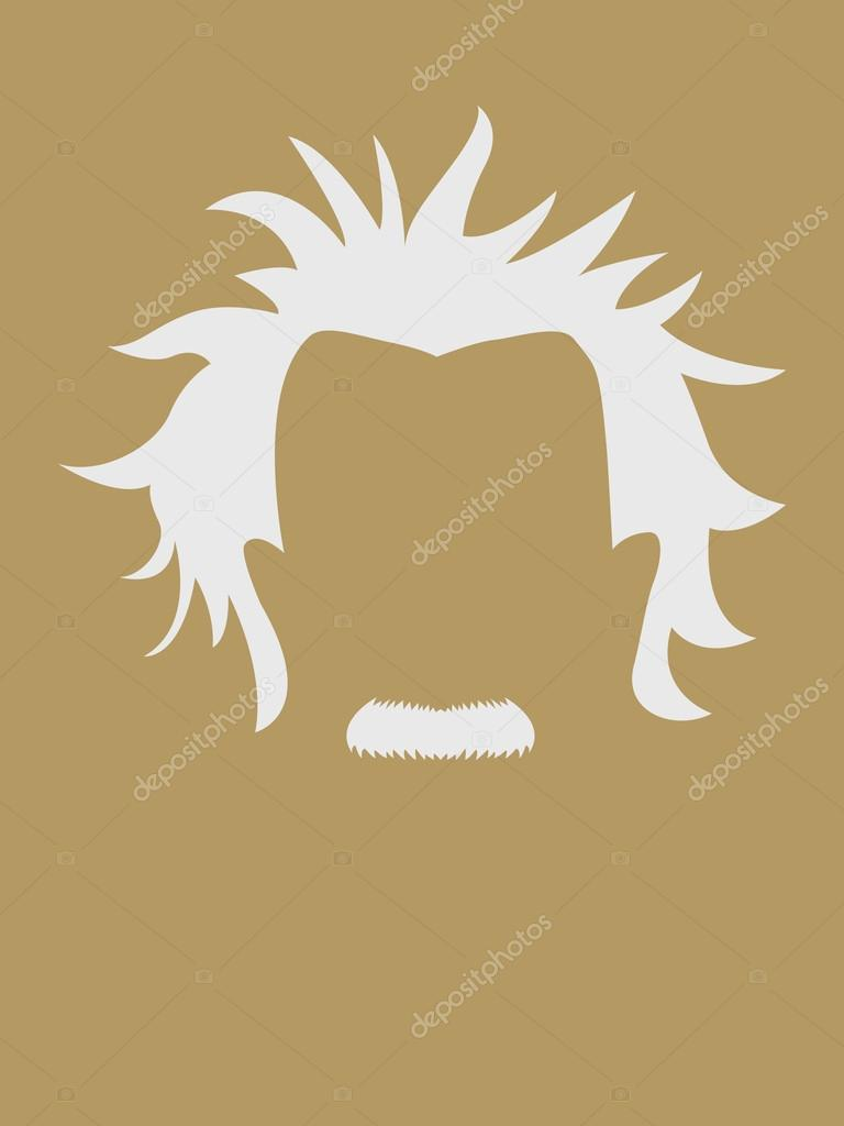 Mans Hair And Mustache Symbol Stock Vector Rudall30 69823747
