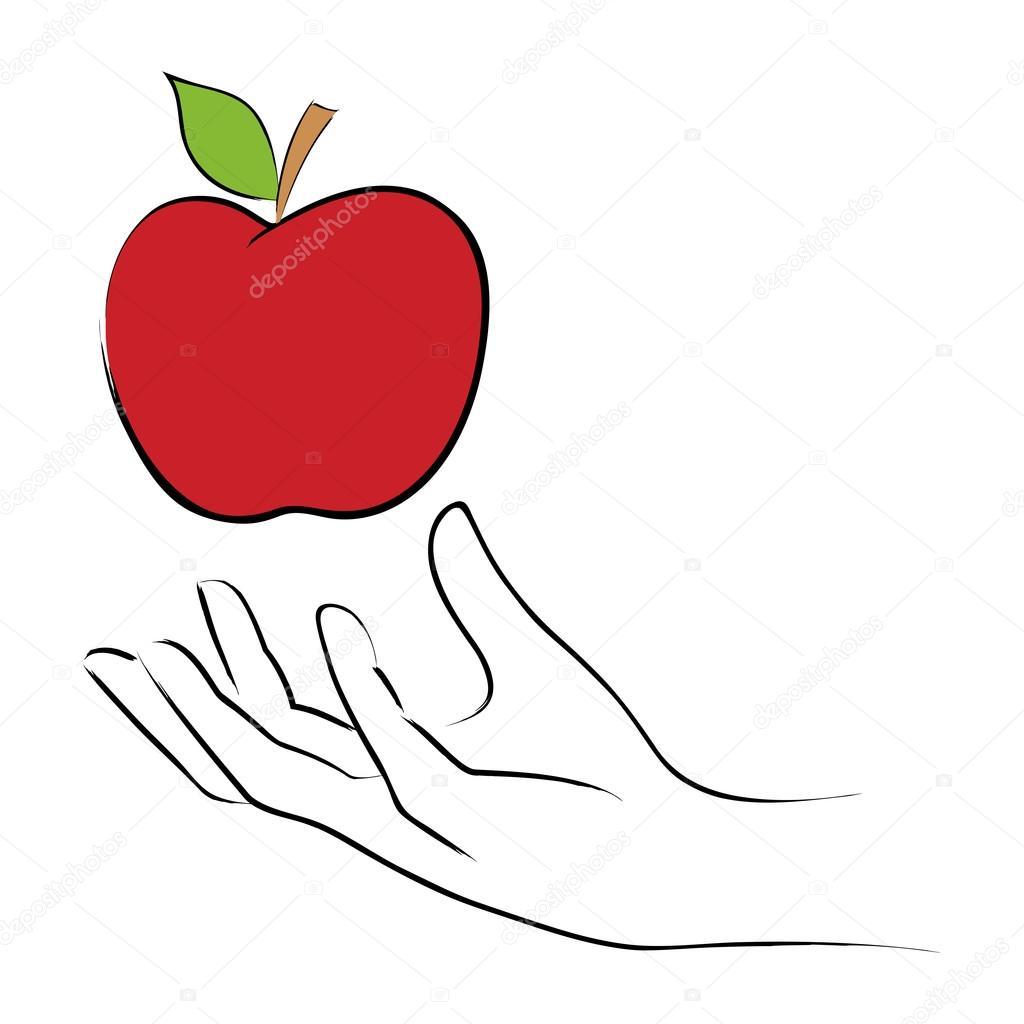リンゴをつかむ ストックベクター Rudall30 88707068