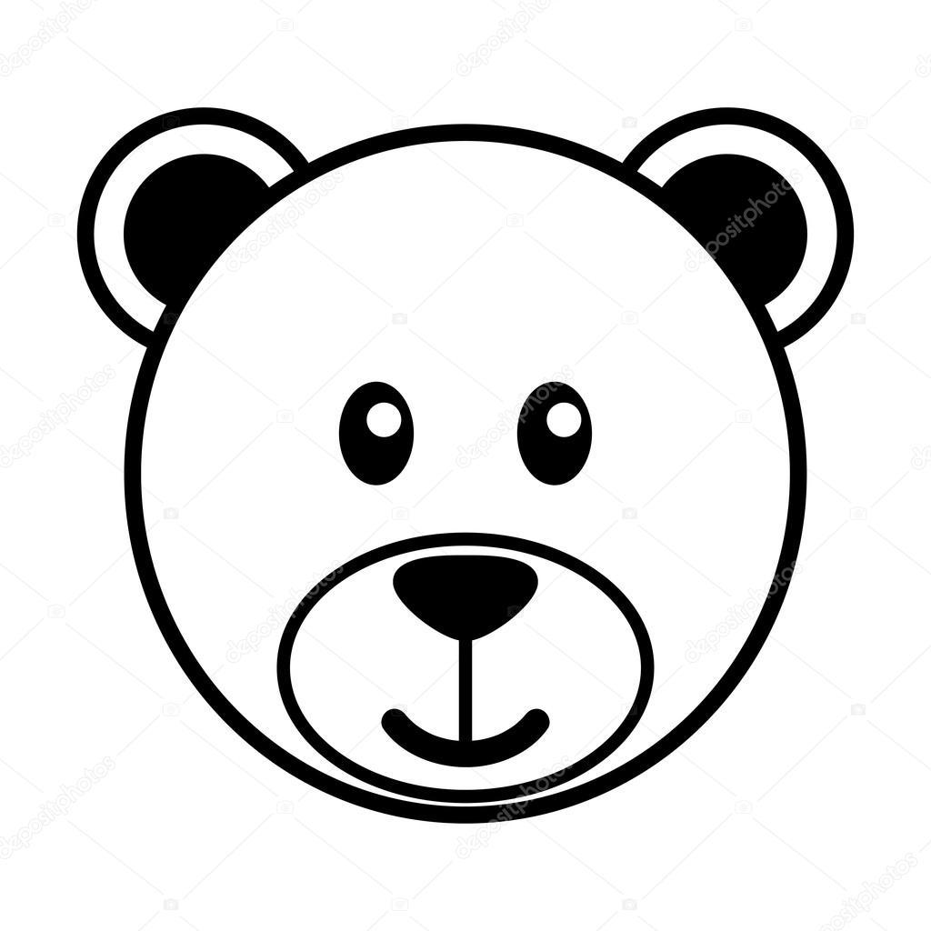 desenho simples de um fofo urso vetores de stock beard clip art black and white bear clipart black and white