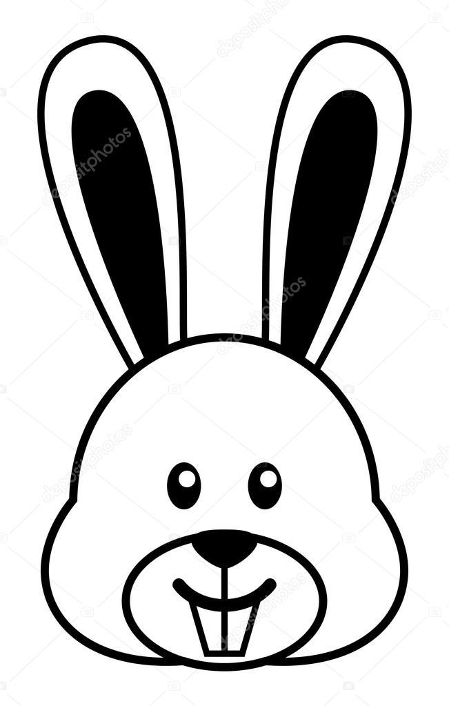 desenho simples de um coelho cute vetor de stock rudall30 97688410