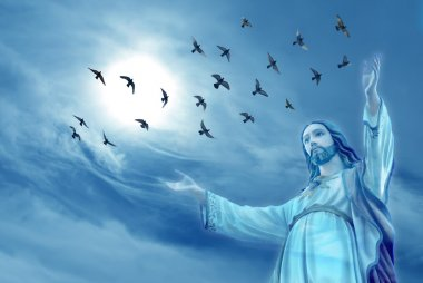 Doves carried the souls of deceased people to heaven