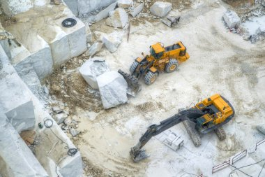 White marble quarries
