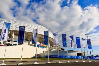 SOCHI, RUSSIA - FEBRUARY 6, 2014: Olympic stadium Fisht in Sochi