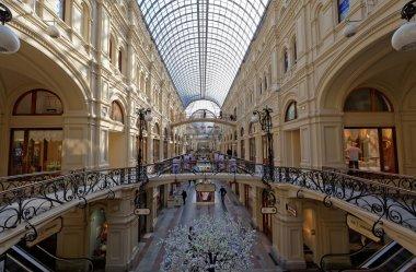 Inside the GUM department store in the communi
