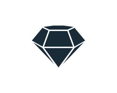 Diamond Icon Vector Logo Template Illustration Design icon