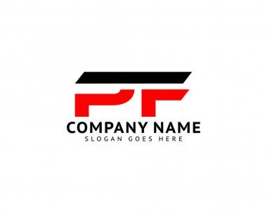 Initial Letter PF Logo Template Design icon