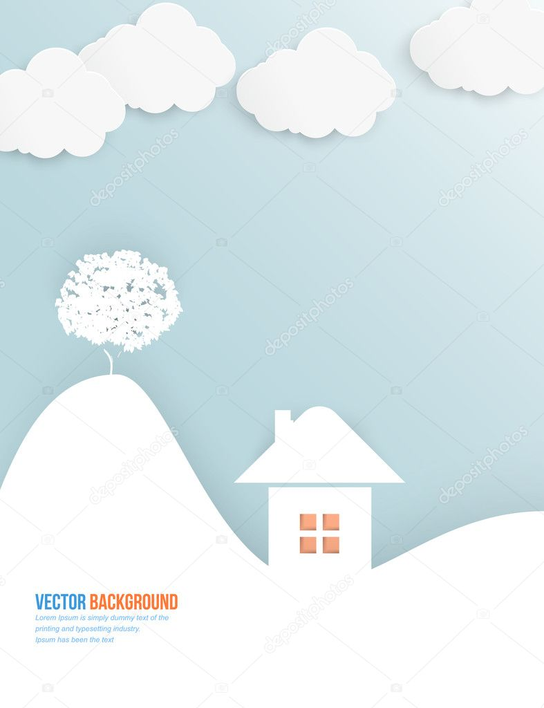Vector cloud and tree.