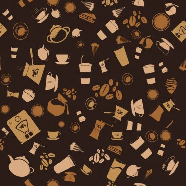 Vector coffee seamless.